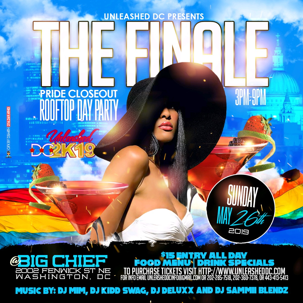 THE FINALE: Pride Closeout Rooftop Day Party at Big Chief